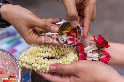 istock Background blurred Baptist pouring water Buddhist rituals are pu 540375052