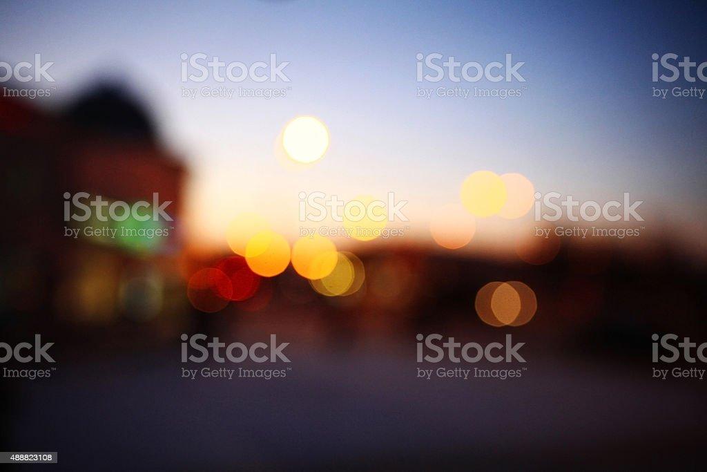 background blurred bokeh cityscape stock photo