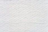 Background: brick wall painted white