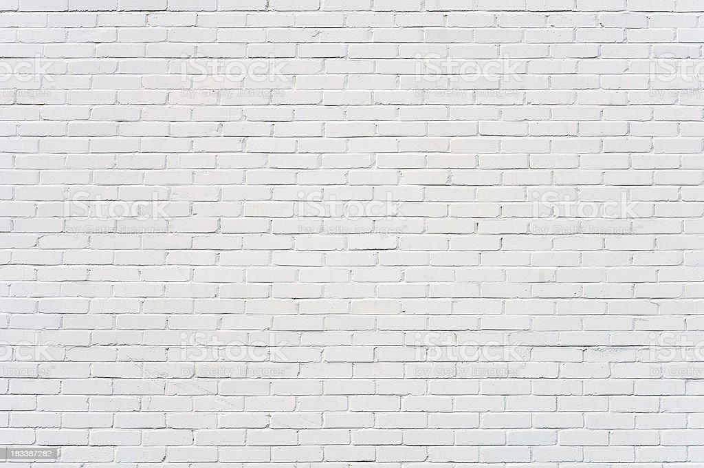 Background: brick wall painted white​​​ foto