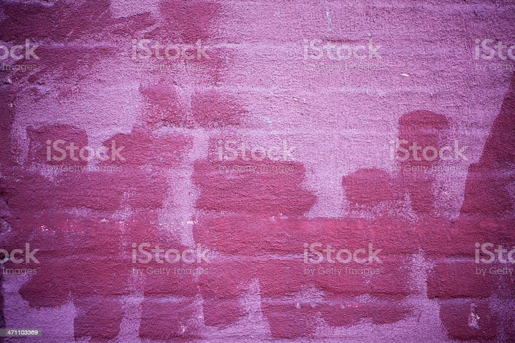 Background, Bright Pink Painted Brick Wall, Nobody, Copy Space stock photo
