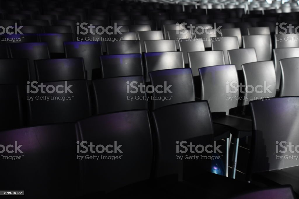 Background Chairs in a huge auditorium