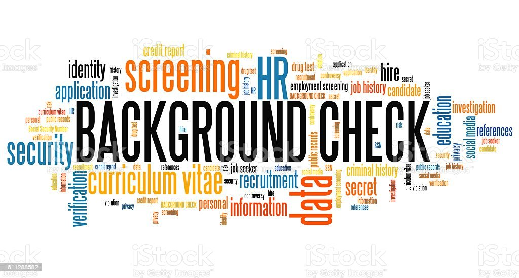 Background check stock photo