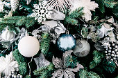 Background Christmas tree with toys