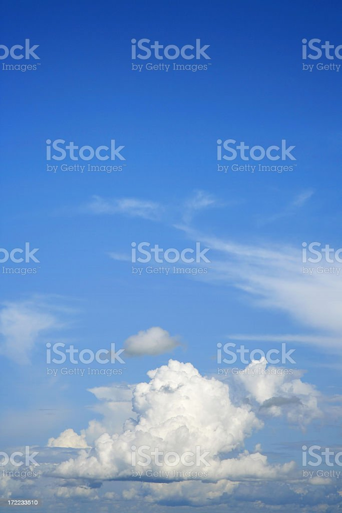 Background - Clouds in a blue sky royalty-free stock photo