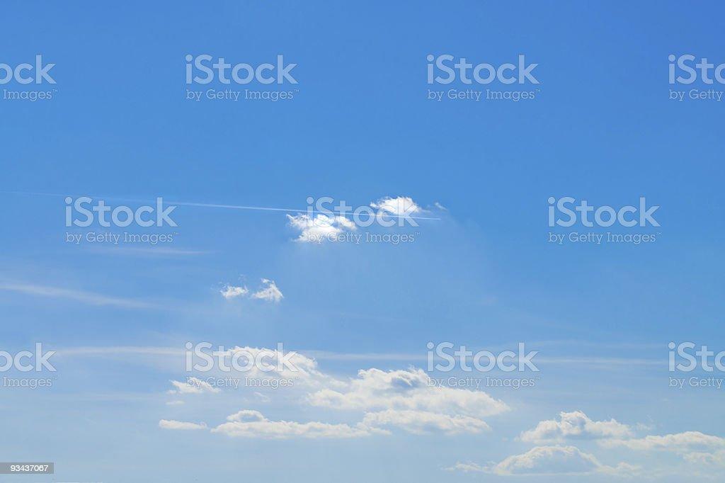 Hintergrund Wolken im Himmel Lizenzfreies stock-foto