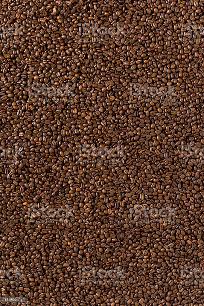Background - Coffee Beans, Wide Angle, Full Frame. royalty-free stock photo
