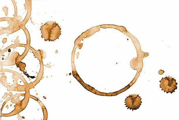 Background coffee ring. Real coffee. stock photo