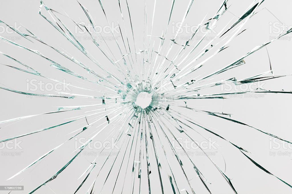 A background consisting of broken glass stock photo
