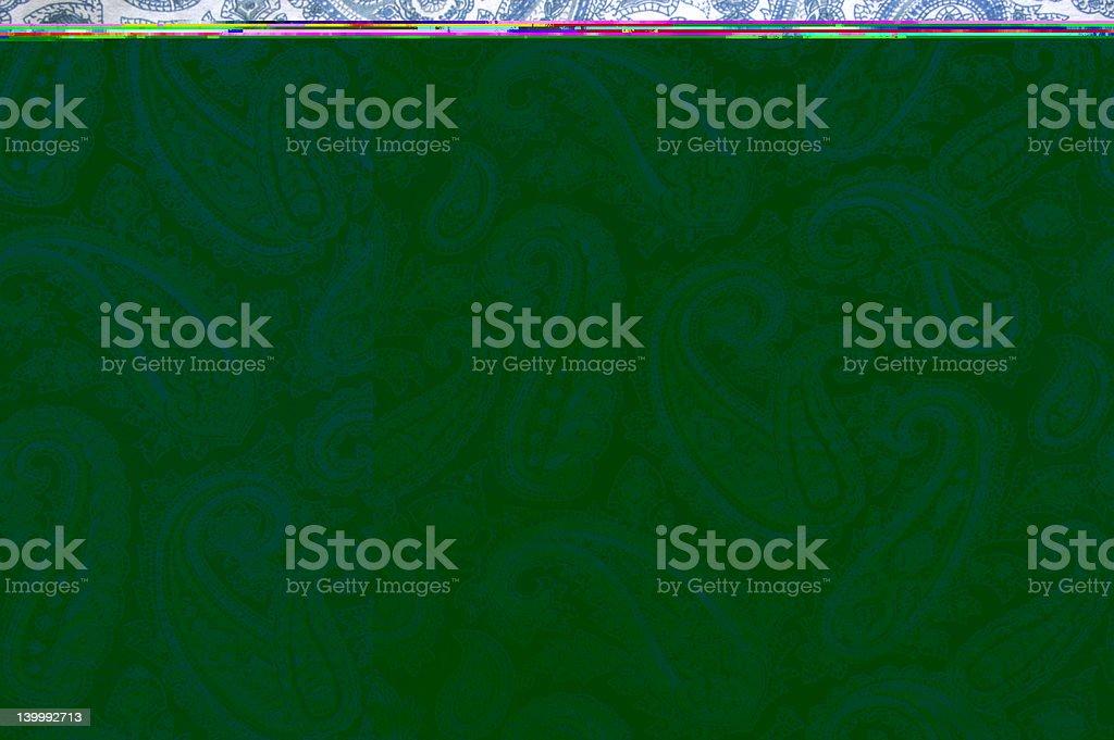 Background: Creased Paisley Shirt stock photo