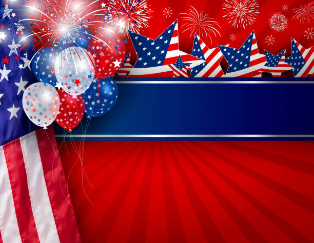 USA background design of American flag for 4 july independence day or other celebration stock photo