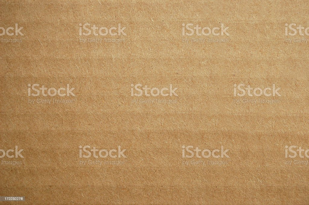 Background design of corrugated brown cardboard royalty-free stock photo