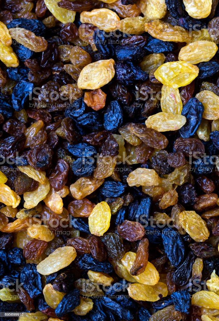 Background dried raisin grapes stock photo