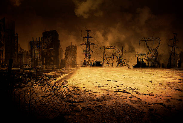 background end time v2 - apocalypse stock photos and pictures