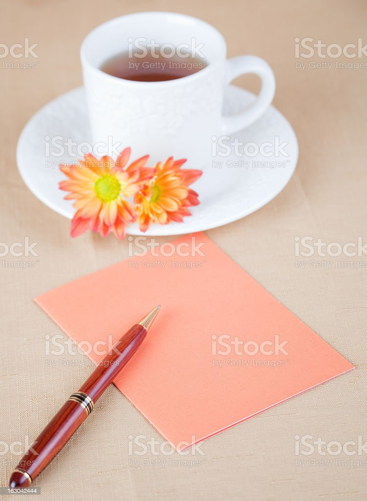 Background Fall Tea Time royalty-free stock photo