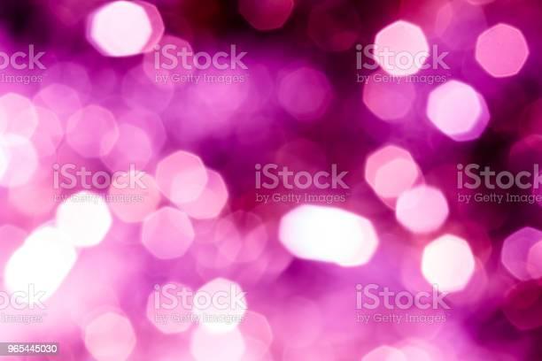 Foto de Plano De Fundo Festivo Abstrato Com Bokeh Defocused Luzes e mais fotos de stock de Abstrato