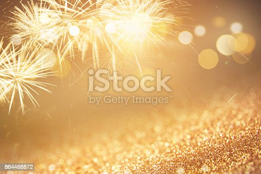 istock Background Fireworks at New Year Holiday 864468872