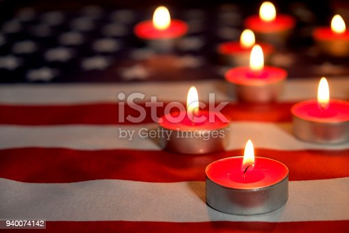 istock Background flag of the United States of America for national federal holidays celebration and mourning remembrance day. USA symbolics. 940074142