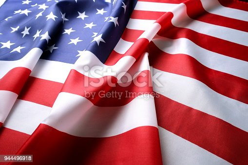 istock Background flag of the United States of America for national federal holidays celebration and mourning remembrance day. USA symbolics. 944496918