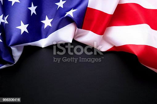 istock Background flag of the United States of America for national federal holidays celebration and mourning remembrance day. USA symbolics. 956306416