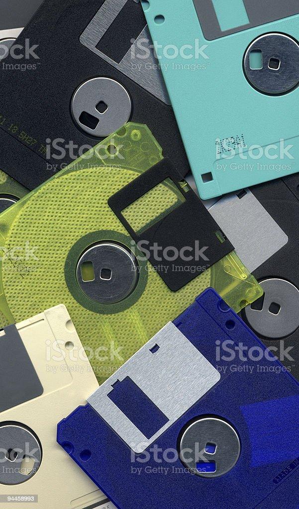 Background - Floppy Disks royalty-free stock photo