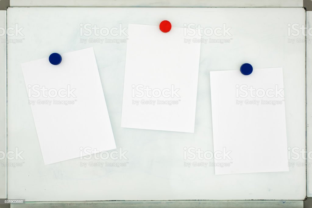background for ads, brochures, presentations in  form of office whiteboard stock photo