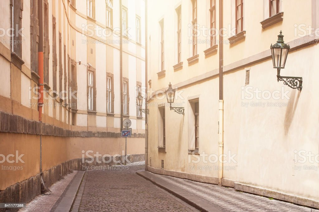 Background for European old towns. stock photo