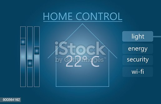 475693130 istock photo Background for Smart Remote House Control 500564162