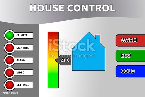 istock Background for Smart Remote House Control 530298621