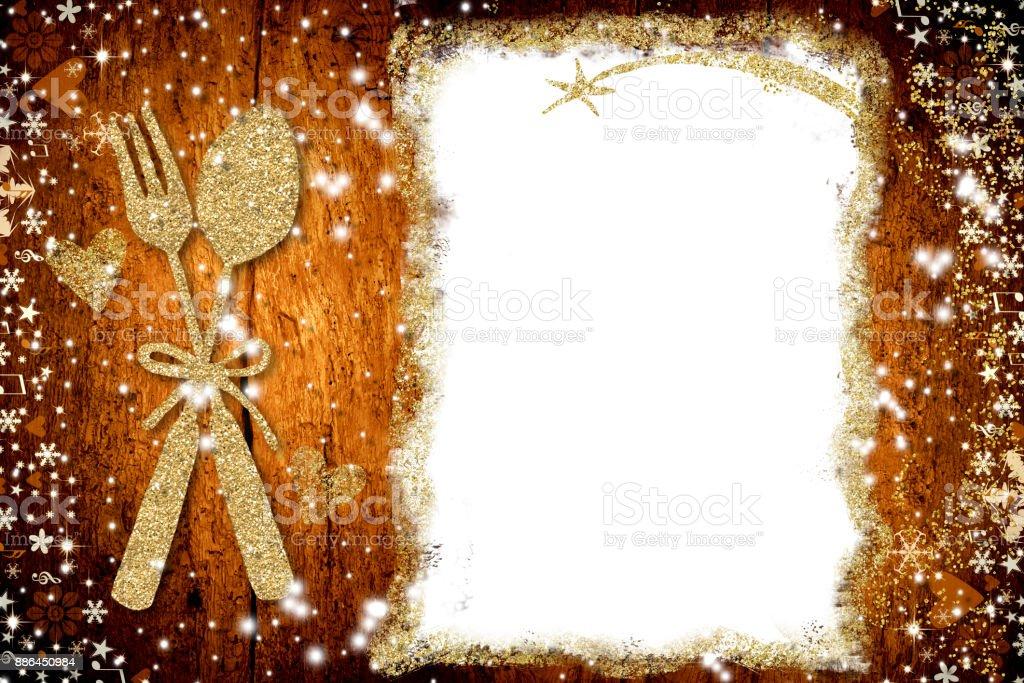 Background for write Christmas menu stock photo