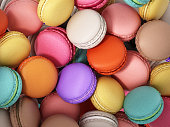 istock Background formed with stacked colorful macarons 996773102