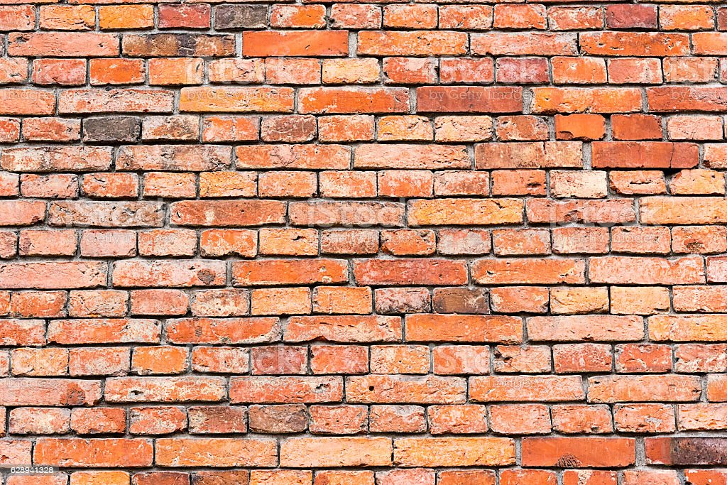 Background from a red brickwall stock photo