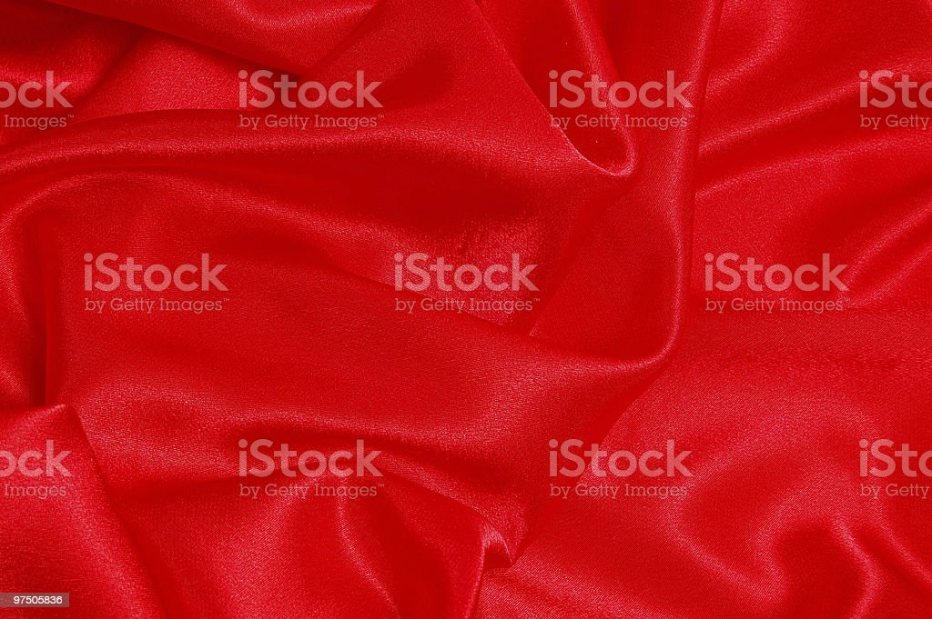 Background from a red fabric royalty-free stock photo