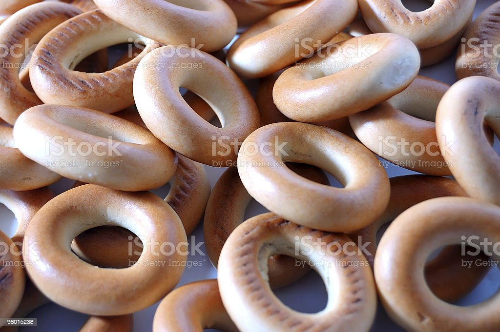 Background from bagels royalty-free stock photo