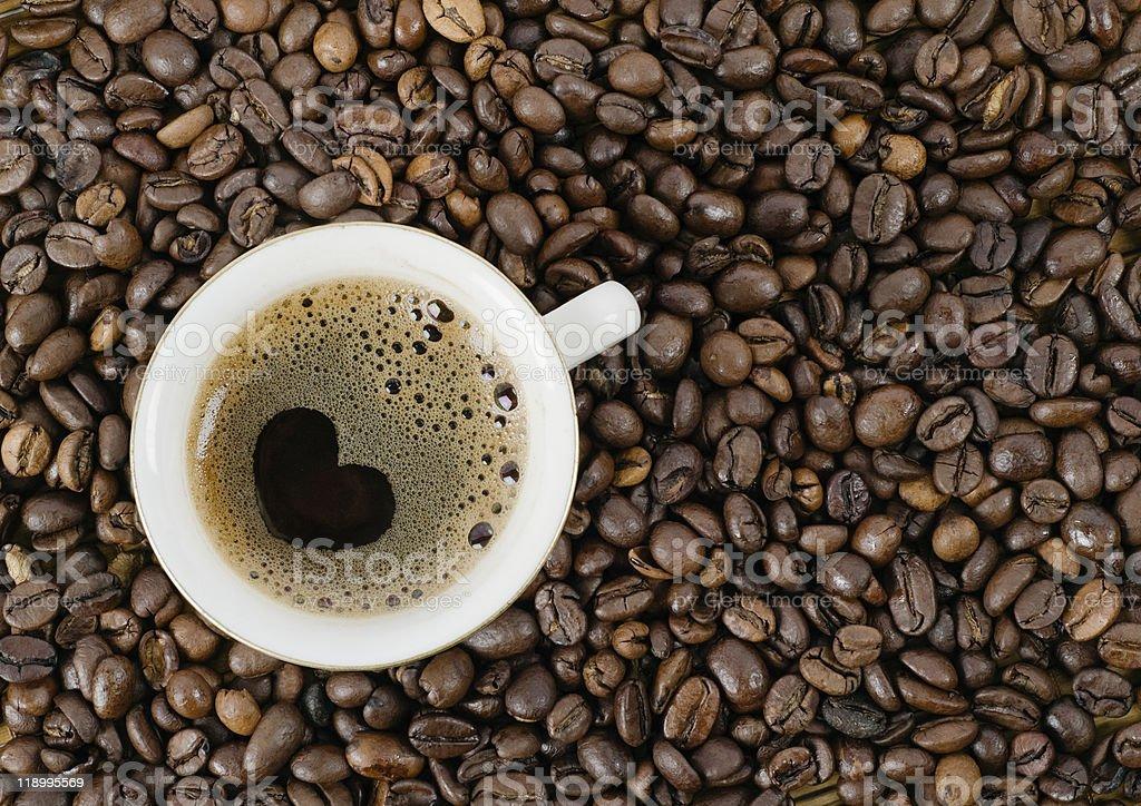 Hintergrund von Kaffee Getreide – Foto