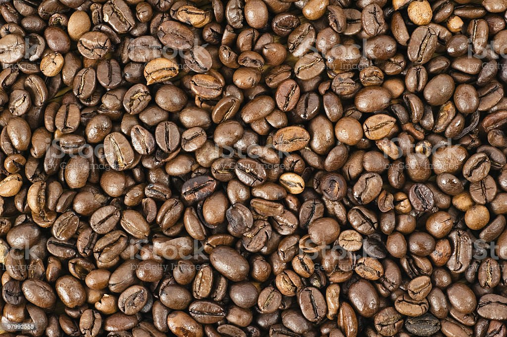 Background from coffee grains royalty-free stock photo