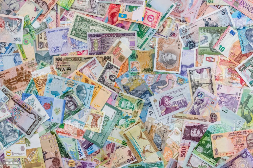 Background From Collection Of All World Money Banknotes