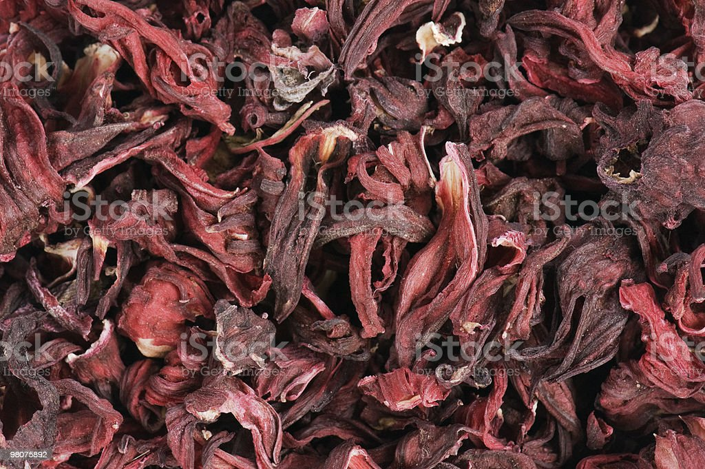 Background from flowers of a  Roselle royalty-free stock photo