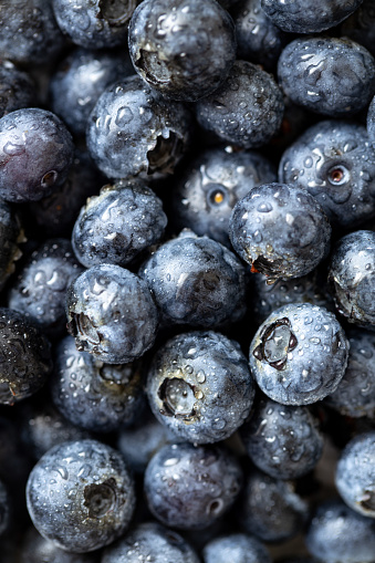 533340696 istock photo Background from freshly picked blueberries 1163478796