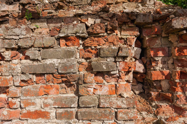 Cтоковое фото Background from old clay red brick