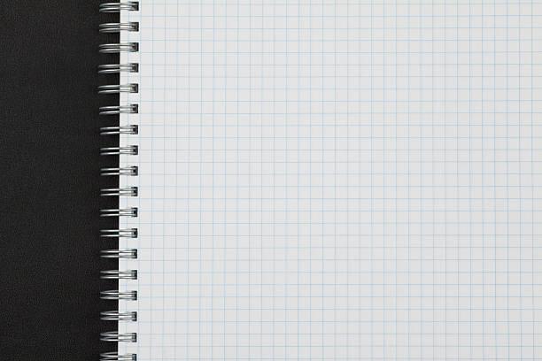 fundo da página de livro de exercícios - folha de caderno imagens e fotografias de stock