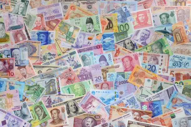 Background from paper Money Background from paper Money of the different countries. chinese currency stock pictures, royalty-free photos & images