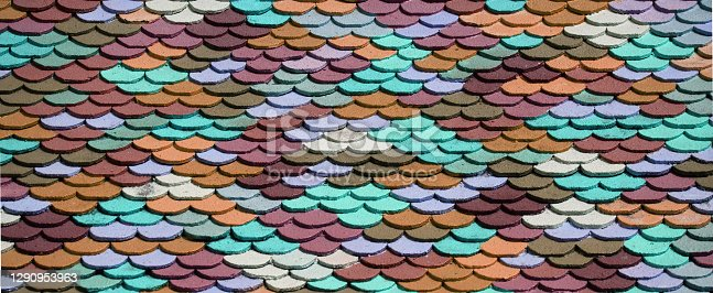 Background from pastel mini rooftile in sunlight