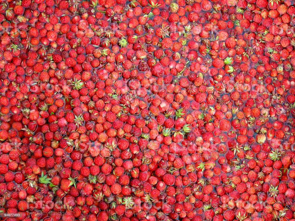 background from strawberries royalty-free stock photo