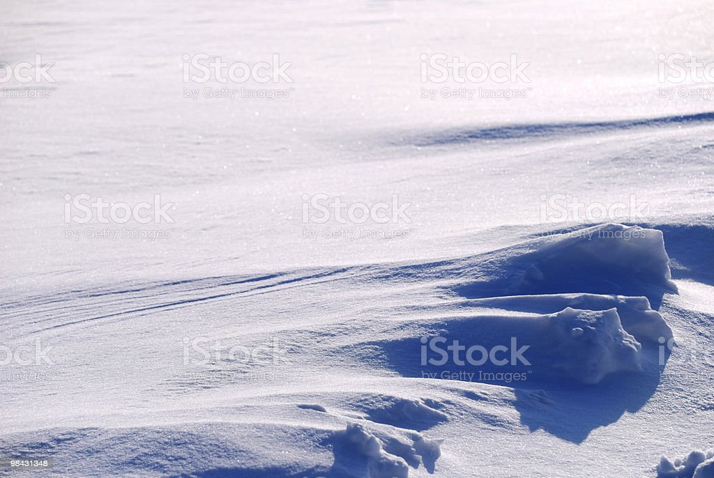 Background from the bright shined snow royalty-free stock photo