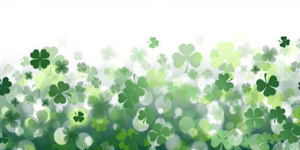 Background from the leaves of the clover to St. Patrick's Day Background from the leaves of the clover to St. Patrick's Day st patricks day stock pictures, royalty-free photos & images