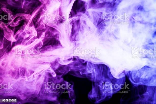 Background From The Smoke Of Vape - Fotografias de stock e mais imagens de Abstrato