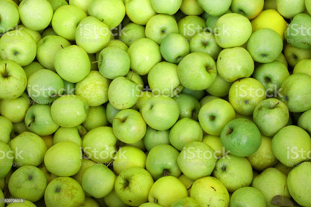 background green apples stock photo