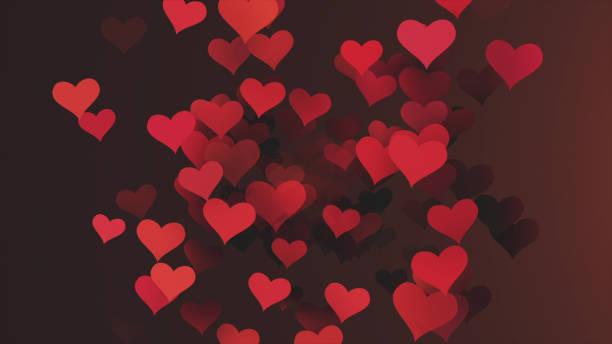 background hearts - vr red background imagens e fotografias de stock