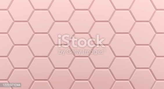 1003112132 istock photo Background hexagons pink geometric 1222371244